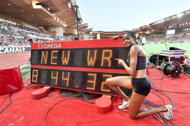 國際田聯鑽石聯賽摩納哥站:肯尼亞選手切普科奇打破女子3000米障礙賽世界紀錄