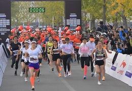 2018北京女子半程馬拉松賽北京園博園鳴槍開跑
