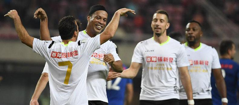 傳奇明星足球挑戰賽在長沙舉行