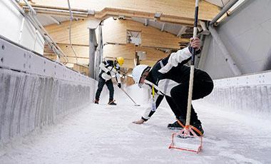 10天!北京冬奧會雪車雪橇賽道完成制冰