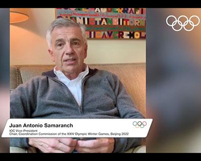 小薩馬蘭奇和帕森斯稱讚北京冬奧會《可持續性計劃》