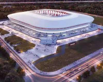 2023年亞洲杯專業足球場陸續開建
