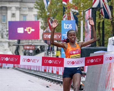 倫敦馬拉松女子精英組賽況