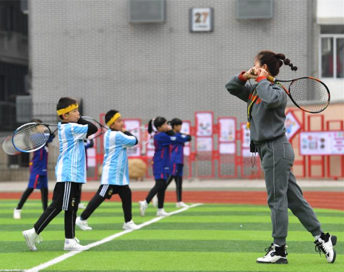 快樂體育課 網球進校園