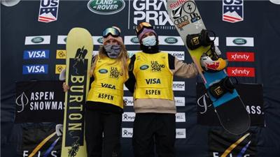 單板滑雪世界杯阿斯本站:克萊韋蘭、加塞爾分獲坡面障礙技巧男、女組冠軍