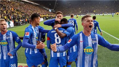 德甲綜合:柏林赫塔和門興贏得賽季首勝