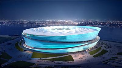 2023年中國亞洲杯大連賽區賽場主體結構封頂