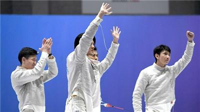廣東隊奪得全運會男子佩劍團體賽冠軍