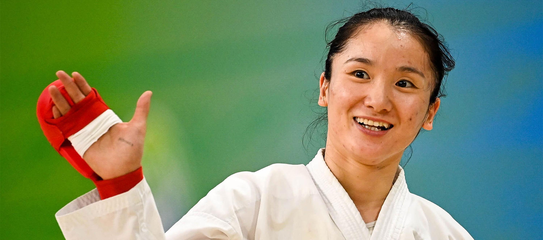 全運會-空手道女子55公斤級決賽:李冉冉奪冠