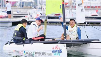 中國家庭帆船賽青島奧帆站開賽