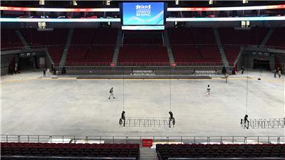 走近冬奧|五棵松體育中心進行電力設備體檢 助力冬奧冰球測試賽