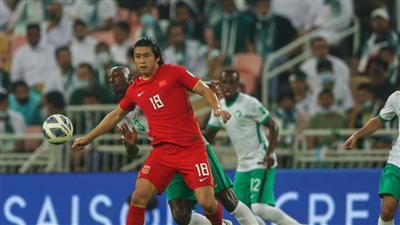 世預賽12強賽中國男足2:3不敵沙特隊