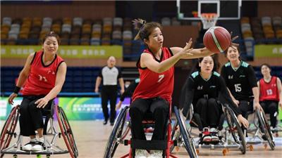 殘運會-輪椅籃球:北京女隊勝廣西女隊